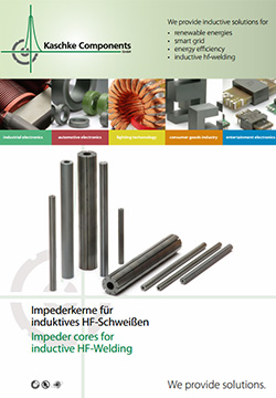 Impedor-cores-for-inductive-HF-welding Products -  Range of the Kaschke ferrite impeder cores