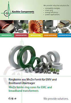 MnZn ferrite ring cores for EMC and broadband transformers Products - Toroidal inductors are mostly used for broadband or signal transformers in telecommunication for frequencies up to 3 MHz and for common mode chokes for EMI suppression from 0.1 – 30 MHz.