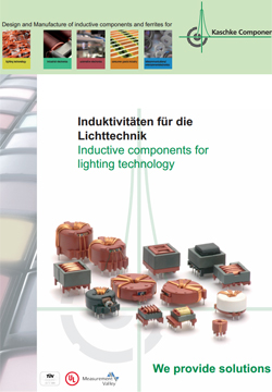 Inductive components for lighting technology